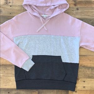 AEO Color Block Hood Pullover